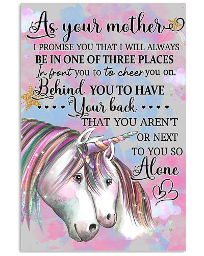 Baby Unicorn As Your Mother I Promise You That I