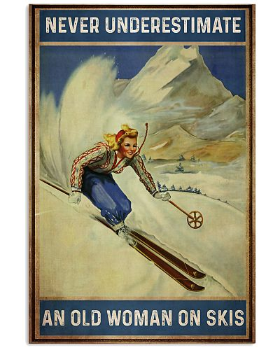 Never Underestimate An Old Woman On Skis