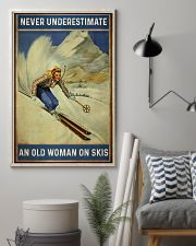 Never Underestimate An Old Woman On Skis 16x24 Poster lifestyle-poster-1