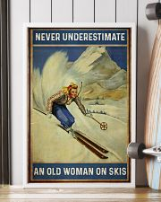 Never Underestimate An Old Woman On Skis 16x24 Poster lifestyle-poster-4