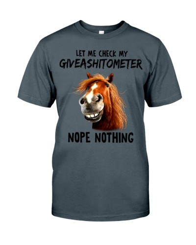 Horse Let Me Check My Giveashitometer