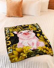 """Limited edition Small Fleece Blanket - 30"""" x 40"""" aos-coral-fleece-blanket-30x40-lifestyle-front-01"""