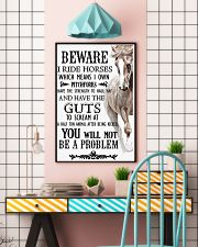 Horse Beware I Ride Horses  16x24 Poster lifestyle-poster-6