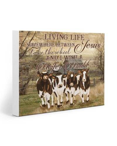 Cow Living Life Somewhere Between Jesus Take The