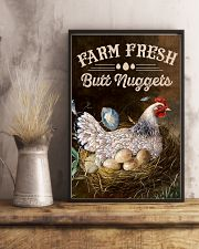 Chicken Farm Fresh Butt Nuggets 16x24 Poster lifestyle-poster-3