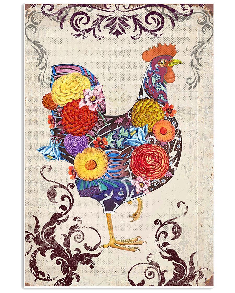 Chicken Flower 16x24 Poster