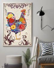 Chicken Flower 16x24 Poster lifestyle-poster-1