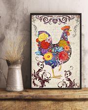 Chicken Flower 16x24 Poster lifestyle-poster-3