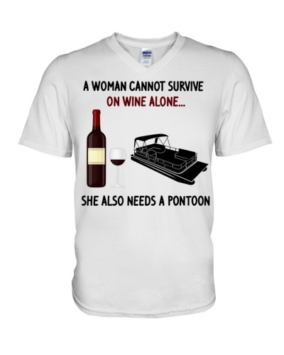 Woman needs pontoon