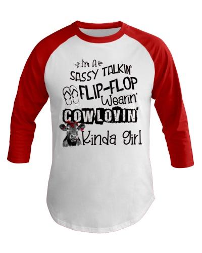 Cow I'm Sassy Talkin' Flip Flop Wearin Cow Lovin'