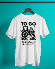 To Go To Sleep Tractor Not Sheep Classic T-Shirt lifestyle-mens-crewneck-front-3