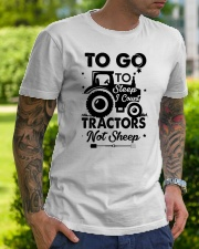 To Go To Sleep Tractor Not Sheep Classic T-Shirt lifestyle-mens-crewneck-front-7