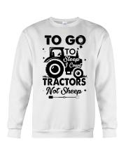 To Go To Sleep Tractor Not Sheep Crewneck Sweatshirt thumbnail
