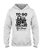 To Go To Sleep Tractor Not Sheep Hooded Sweatshirt thumbnail