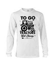 To Go To Sleep Tractor Not Sheep Long Sleeve Tee thumbnail