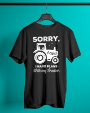 Sorry I Have Plans With My Tractor Classic T-Shirt lifestyle-mens-crewneck-front-3