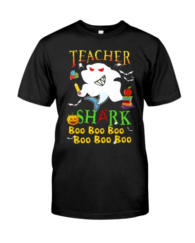 Teacher Shark Doo Doo Boo Boo Halloween Shirt