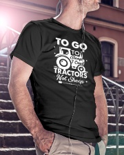 To Go To Sleep Tractor Not Sheep Classic T-Shirt lifestyle-mens-crewneck-front-5