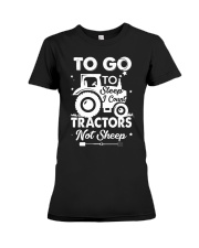 To Go To Sleep Tractor Not Sheep Premium Fit Ladies Tee thumbnail