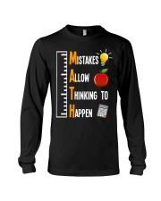 Mistakes Allow Thinking To Happen Long Sleeve Tee thumbnail