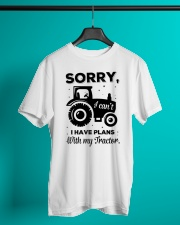 Sorry I Cant I Have Plans With My Tractor Classic T-Shirt lifestyle-mens-crewneck-front-3
