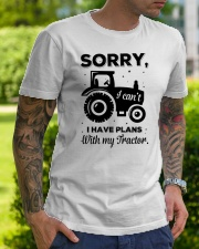 Sorry I Cant I Have Plans With My Tractor Classic T-Shirt lifestyle-mens-crewneck-front-7