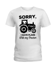 Sorry I Cant I Have Plans With My Tractor Ladies T-Shirt thumbnail