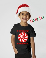 I Want Candy Youth Tee Onsie And Or Tote Bag Youth T-Shirt lifestyle-holiday-youth-front-1