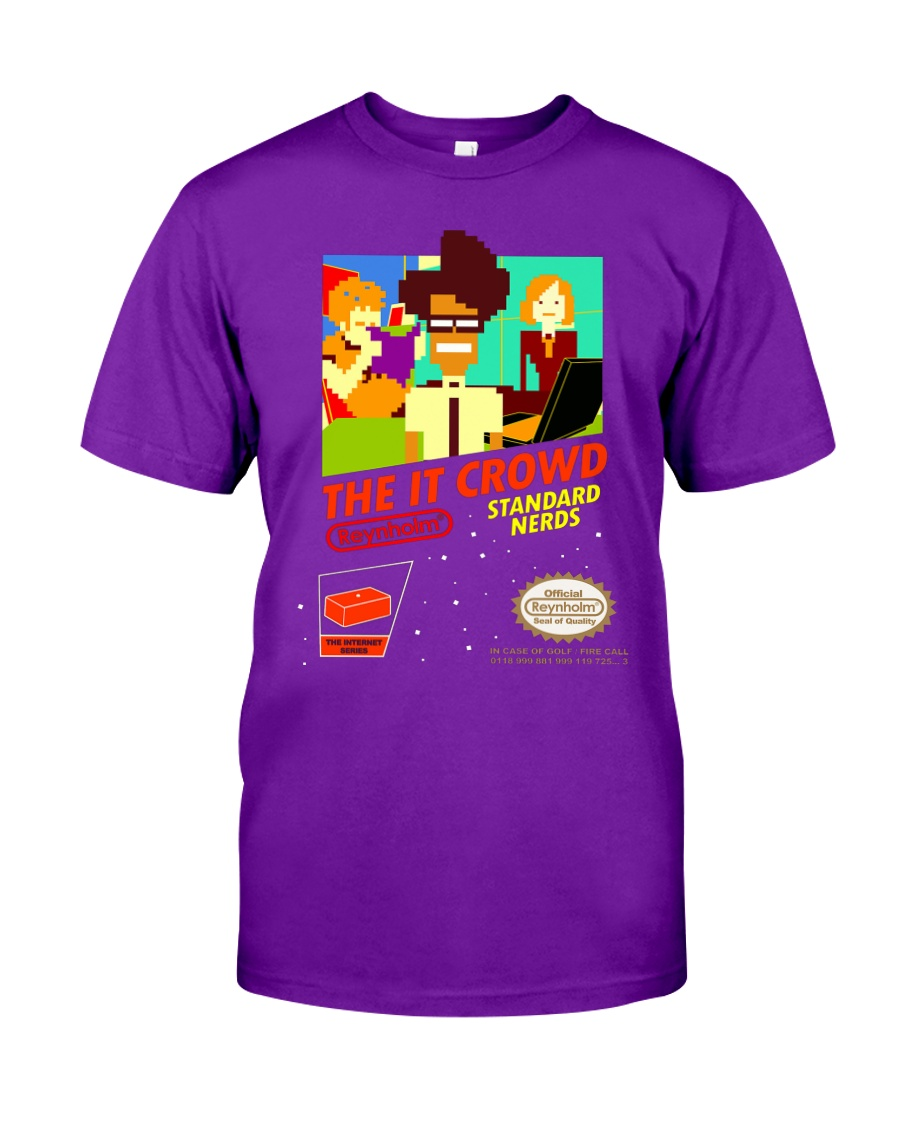 The IT Crowd NES game video game T shirt funny p Classic T-Shirt