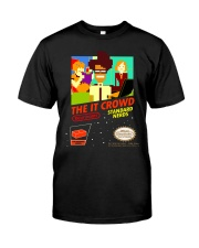 The IT Crowd NES game video game T shirt funny p Premium Fit Mens Tee thumbnail