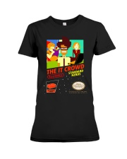The IT Crowd NES game video game T shirt funny p Premium Fit Ladies Tee thumbnail