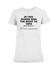 Don't waste your womanly vote Premium Fit Ladies Tee thumbnail
