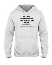 Don't waste your womanly vote Hooded Sweatshirt tile