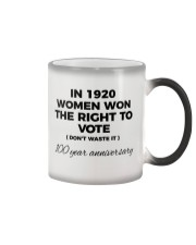 Don't waste your womanly vote Color Changing Mug tile