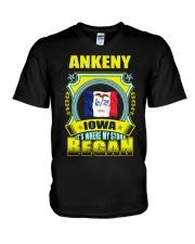 My story began in Ankeny-IA TShirt V-Neck T-Shirt thumbnail
