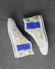 BLUE SLIDE PARK Men's High Top White Shoes aos-complex-men-white-high-top-shoes-lifestyle-inside-left-outside-left-21