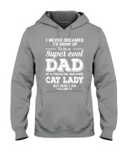 Cat Lady's Dad Hooded Sweatshirt thumbnail