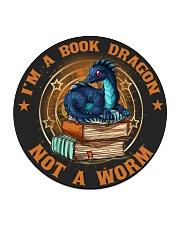 I'M A BOOK DRAGON Circle Coaster thumbnail