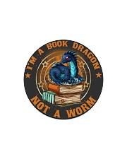 I'M A BOOK DRAGON Circle Magnet thumbnail