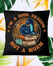 I'M A BOOK DRAGON Square Pillowcase aos-pillow-square-front-lifestyle-29