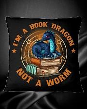 I'M A BOOK DRAGON Square Pillowcase aos-pillow-square-front-lifestyle-34