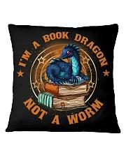 I'M A BOOK DRAGON Square Pillowcase front