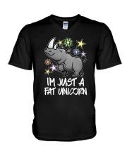 A FAT UNICORN V-Neck T-Shirt thumbnail