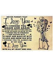 NEVER FORGET THAT I LOVE YOU 36x24 Poster front