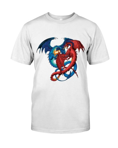RED AND BLUE DRAGON