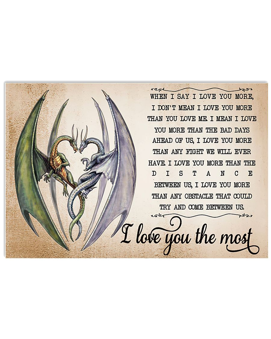 I LOVE YOU THE MOST 17x11 Poster