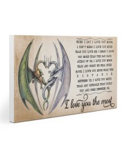 I LOVE YOU THE MOST 30x20 Gallery Wrapped Canvas Prints thumbnail