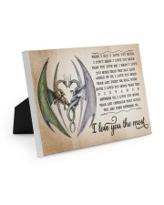 I LOVE YOU THE MOST 10x8 Easel-Back Gallery Wrapped Canvas thumbnail