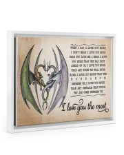 I LOVE YOU THE MOST 14x11 White Floating Framed Canvas Prints thumbnail