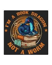 I'M A BOOK DRAGON Square Coaster thumbnail